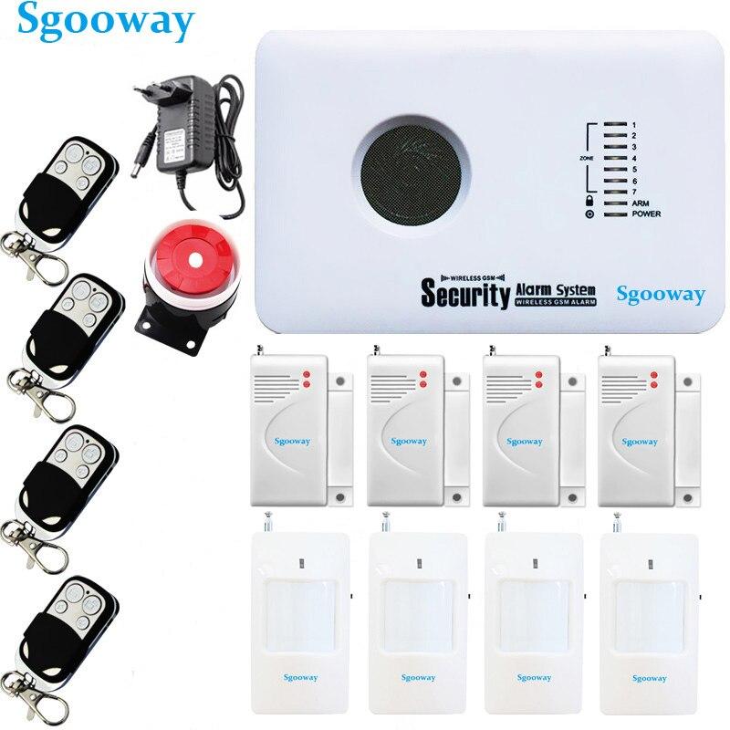 Sgooway Smarts Russe Anglais Espagnol polonais application ios et android contrôle de sécurité à Domicile systèmes d'alarme alarme gsm système