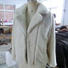 Imported velvet mink coat female whole mink short section zipper suits collar motorcycle clothes mink fur coat winter