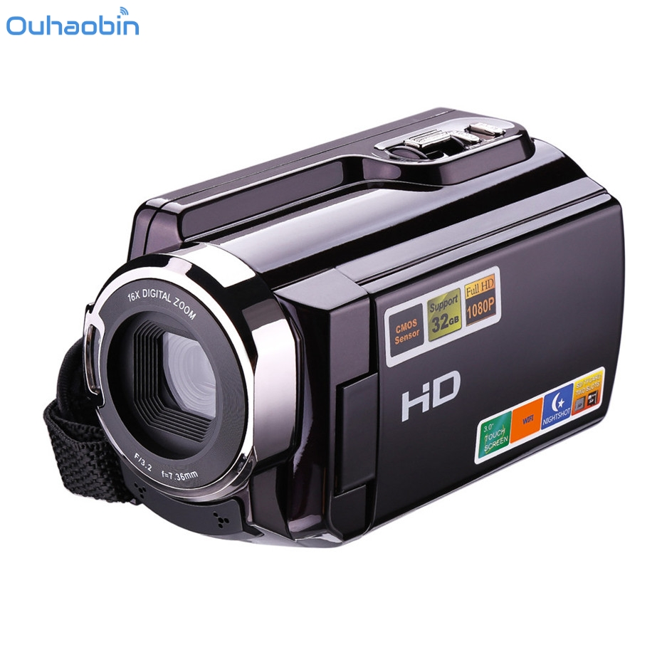 Ouhaobin Video Camcorder 1080P FHD Night Vision 16X Zoom WIFI Digital Video Camera HDMI Touchscreen Portable LCD HDV Cam Dec4