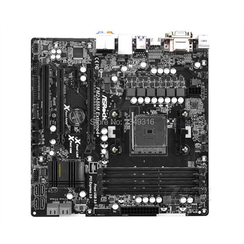 For ASRock FM2A88M Extreme4+ Original Used Desktop Motherboard A88X Socket FM2+/FM2 DDR3 SATA3 USB3.0
