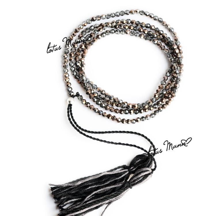 Lotus mann gun crystal slender necklace mix match-in ...