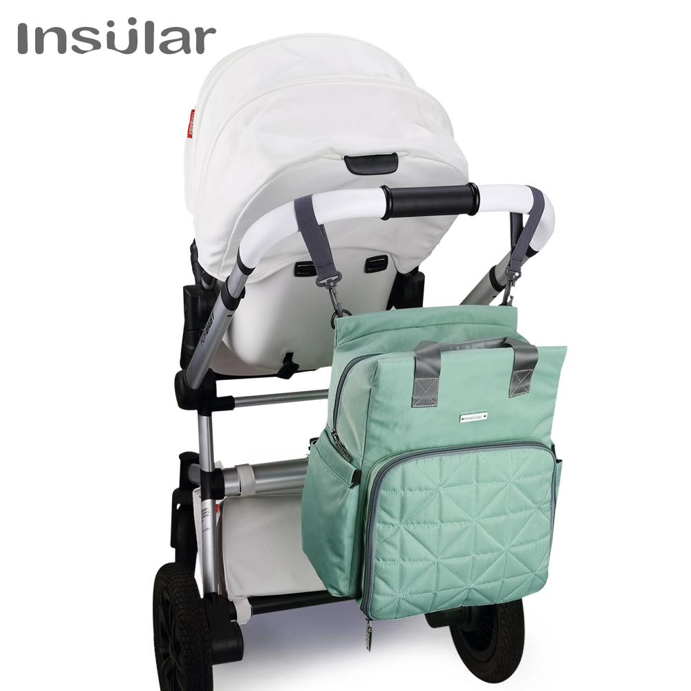 Insular Baby Diaper Backpack Large Capacity Waterproof Nappy Stroller Bags Kids Mummy Maternity Travel Backpack Nursing Handbag insular high quality maternity mummy handbag waterproof baby stroller bag nappies bags baby diaper backpack