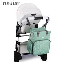 Insular Baby Diaper Backpack Large Capacity Waterproof Nappy Stroller Bags Kids Mummy Maternity Travel Backpack Nursing Handbag