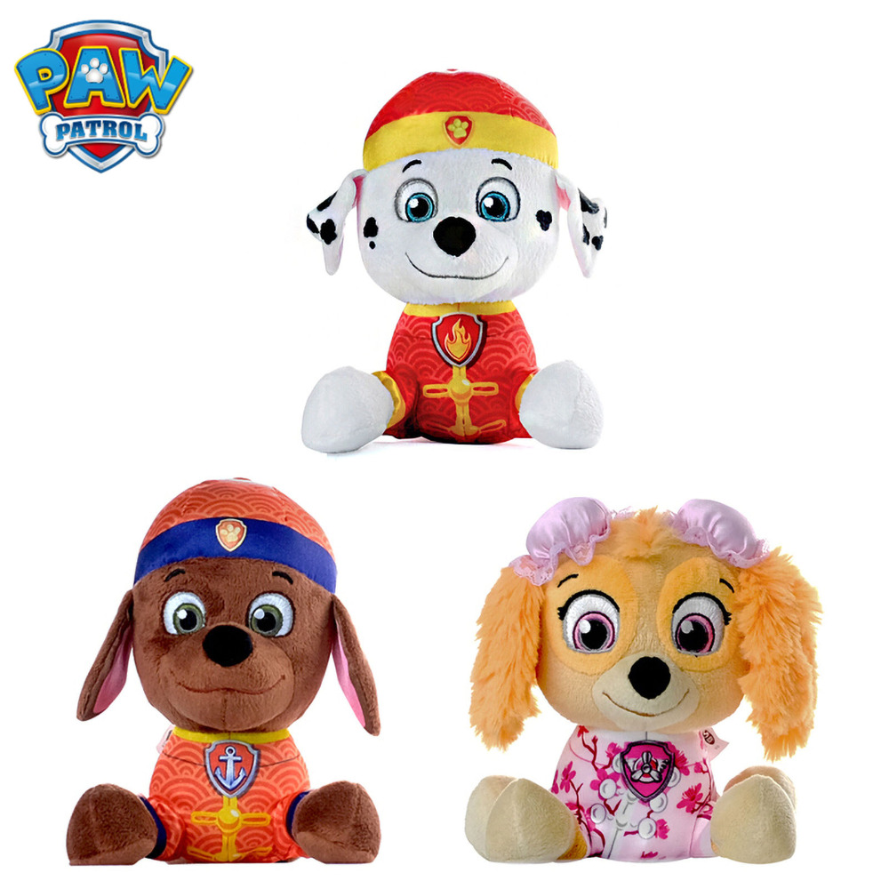 PAW PATROL 3pcs/set Dog Toys 15cm Plush Doll Skye Marshall Zuma For Children Kids Christmas Birthday Gift motorcycle mirrors and mounting adapter all aluminum for yamaha yzf1000 r1 2002 2003 2004 2005 2006 2007 2008 rearview mirror