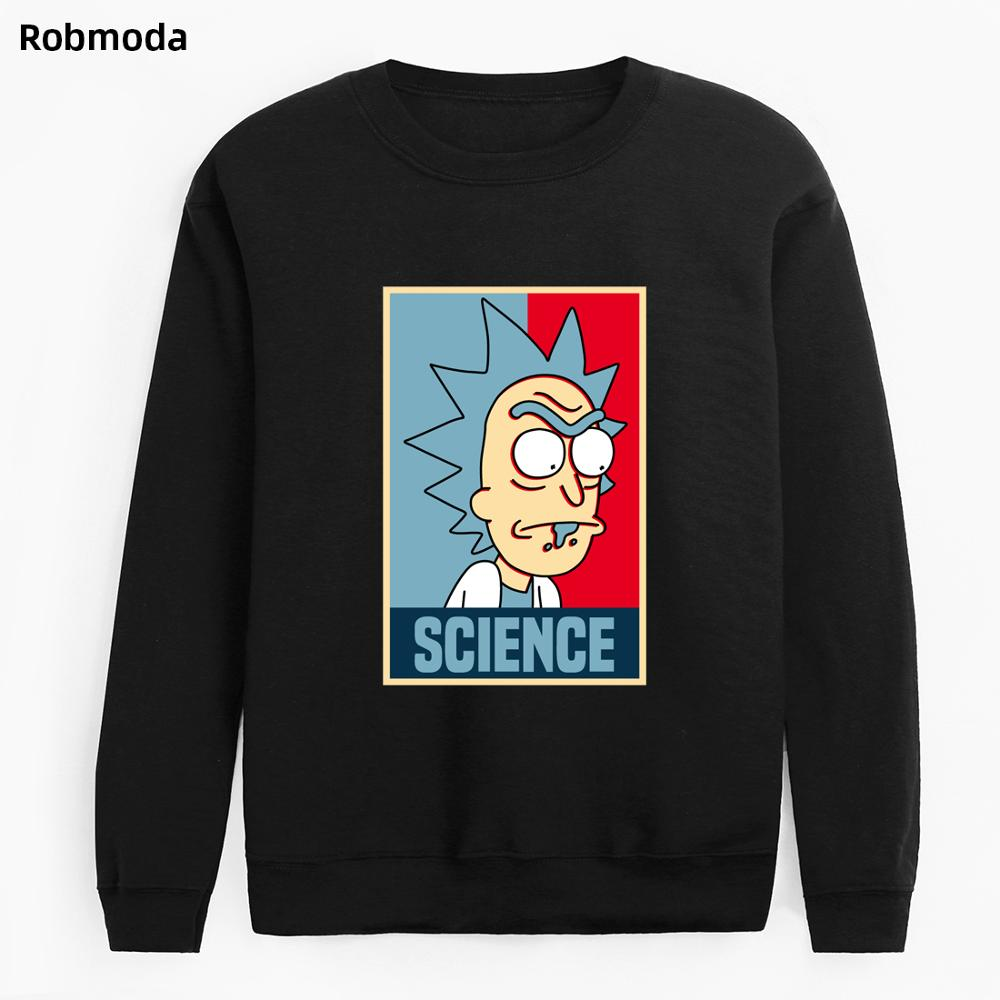 2019 New Hot Hoodies Men Spring Streetwear Casual Hoody Crazy SCIENCE RICK AND MORTY Harajuku Fashion Sweatshirts Men's Hoodie