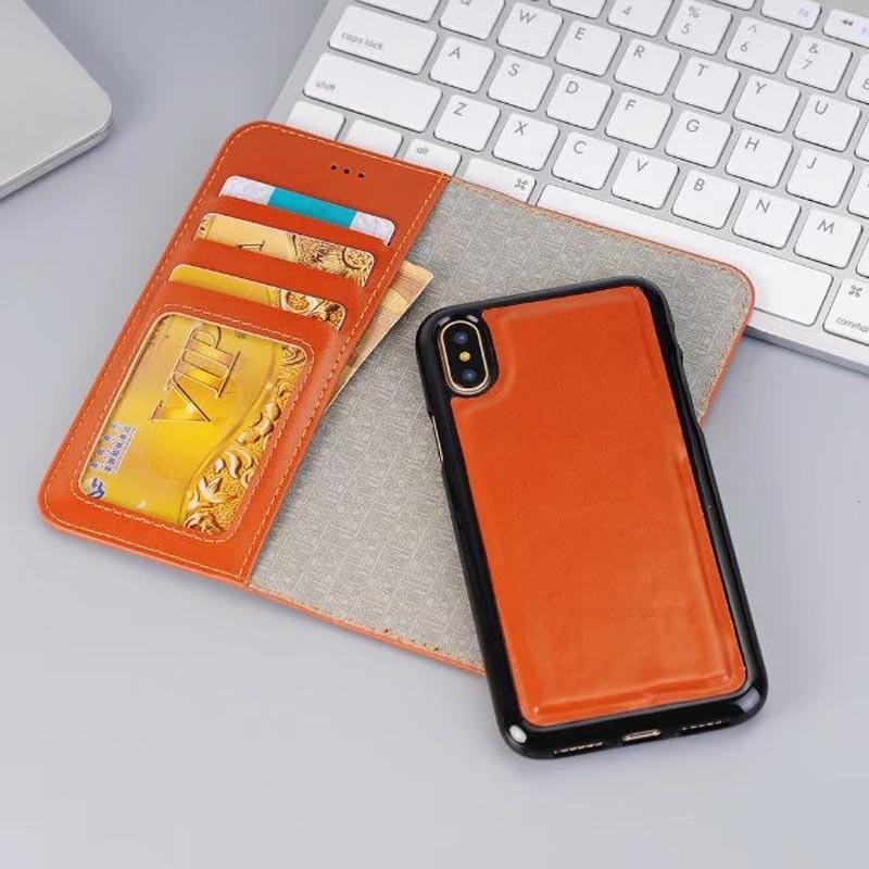 Яркий искусственная кожа Бизнес Флип Smart Cover для IPhone X 6 6S 6 Plus 7 7 Plus 8 8 плюс съемная карты карман бумажник Обложка