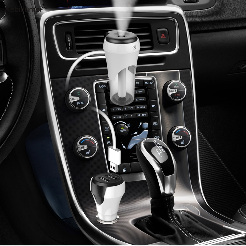 Hot Sale 12V Car Humidifier Air Purifier Freshener Essential Oil Diffuser Aromatherapy Portable Auto Mist Maker Fogger free shipping mini portable air purifier air freshener for car and home appliances aromatherapy