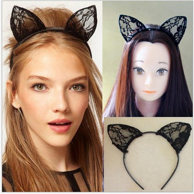 Mode Femme Mignon Chat Oreilles Hairband Coiffure Cheveux Accessoires Maquillage Outils