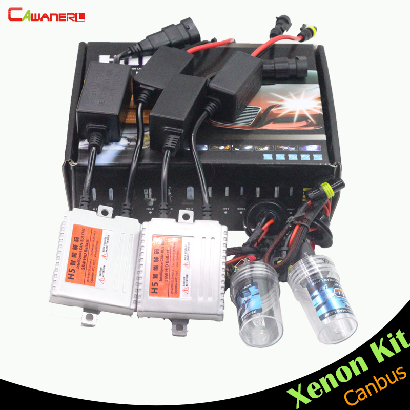 Cawanerl 9006 HB4 55W No Error HID Kit Canbus Xenon Ballast Bulb AC 3000K-15000K Car Headlight Fog Light Daytime Running Lamp