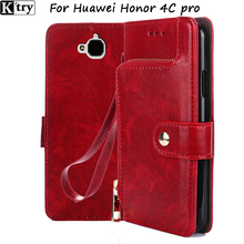 For Huawei Honor 4C pro for Huawei y6 pro case fluffy 4cpro cover flip case luxury leather for huawei y6pro case