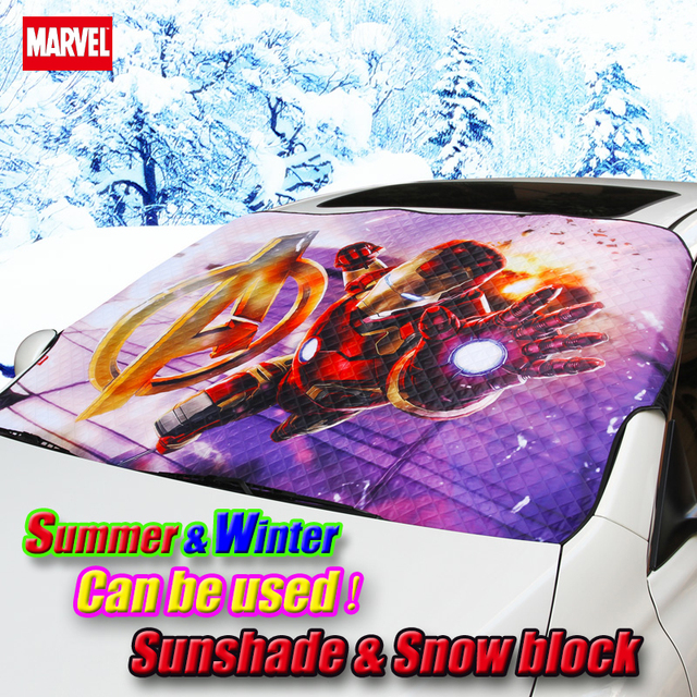 Car cartoon Marvel Iron Man Front window sunshade & winter frost snow shade Foils Windshield Visor Cover UV Protect Car Film