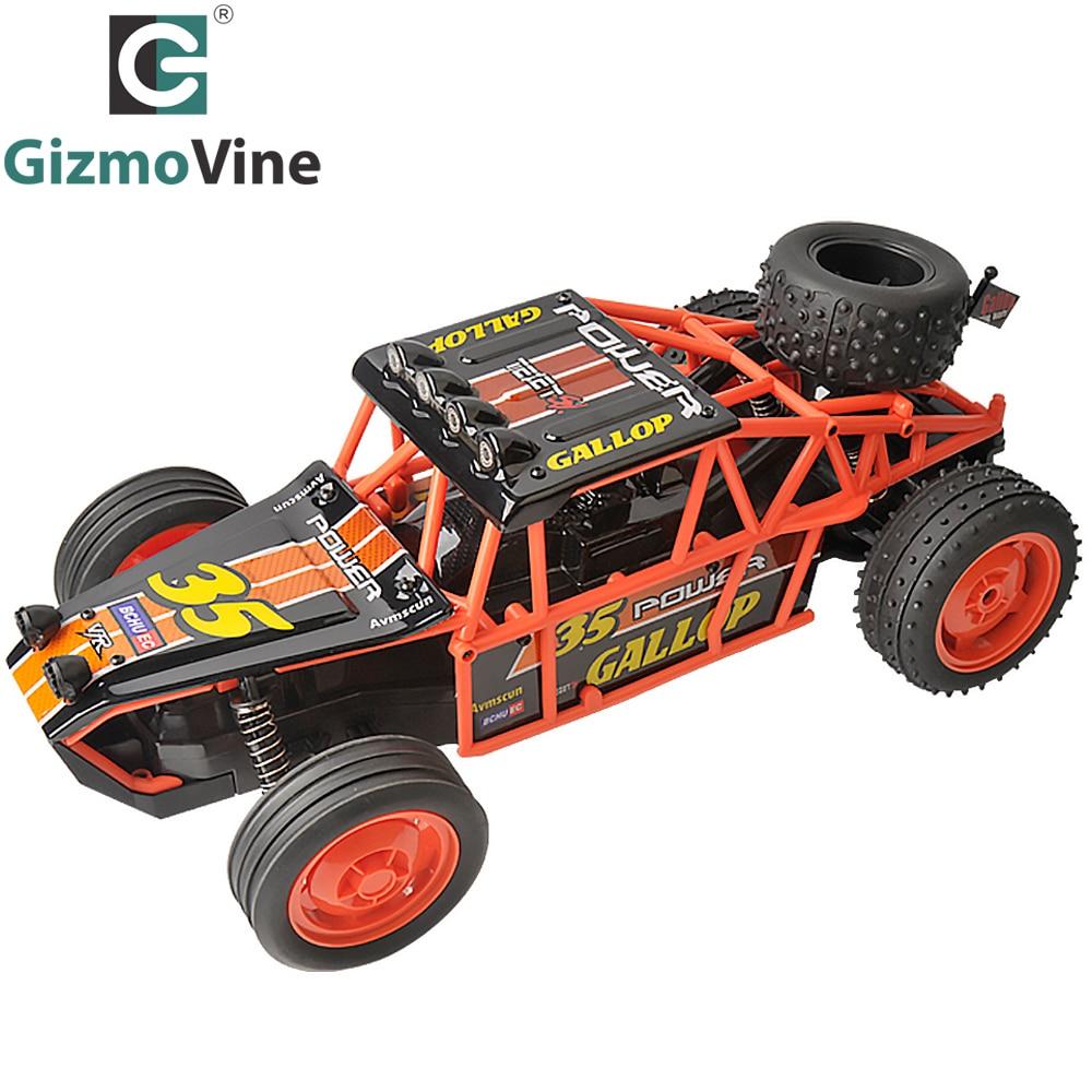 GizmoVine RC Car 2WD 2.4GHz Rock Crawlers Rally climbing Car 4x4 Bigfoot Car Remote Control Model Off-Road 25KM/H Vehicle Toy