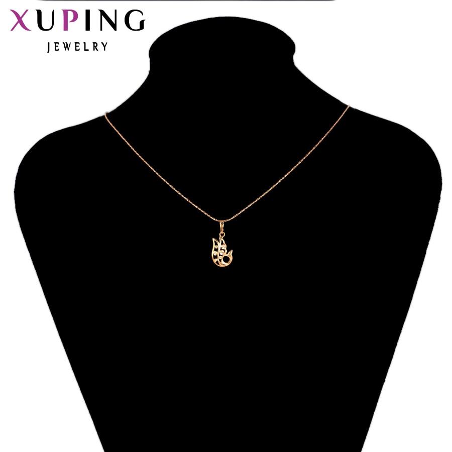 Xuping Pendant Special Design Guldfärgplatta Vackra och mode smycken - Märkessmycken - Foto 6