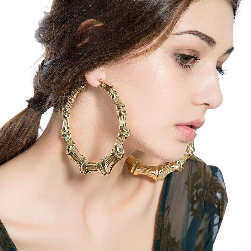 Best Ing European Style Hyperbole Extra Large Bamboo Hoop Earring 100mm In Earrings From Jewelry Accessories On Aliexpress Alibaba