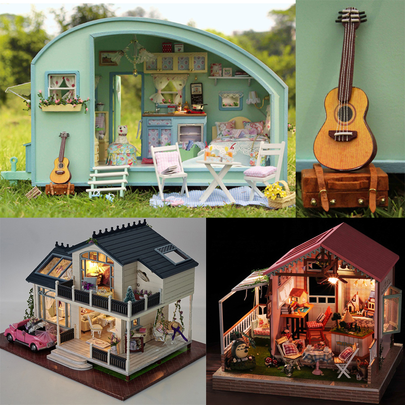 DIY DollHouse Miniature Doll House Furnitures Wooden Handmade House For Dolls Puzzle TIME TRAVEL Gift Toys For Children