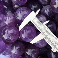 Crystal Material and Polished Technique natural stone crystal crafts amethyst spheres meditation healing for home decoration