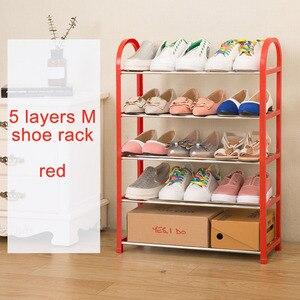 Image 5 - Современный модный органайзер для домашней обуви, простой шкаф для обуви, свободная сборка, складная мебель, универсальная полка для обуви