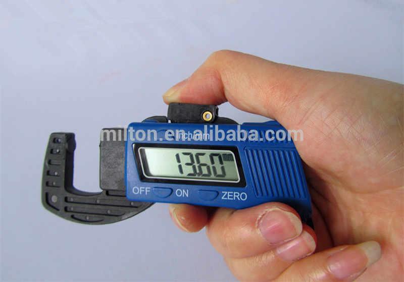 Livraison directe 0-12.7mm 0.01mm en plastique numérique jauge d'épaisseur testeur mètre pachymètre jauge de mesure
