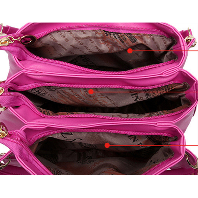 para mulheres bolsa feminina Color : Black, Dark Blue, Creamy White, Sky Blue, Rose Red, Pink, Red