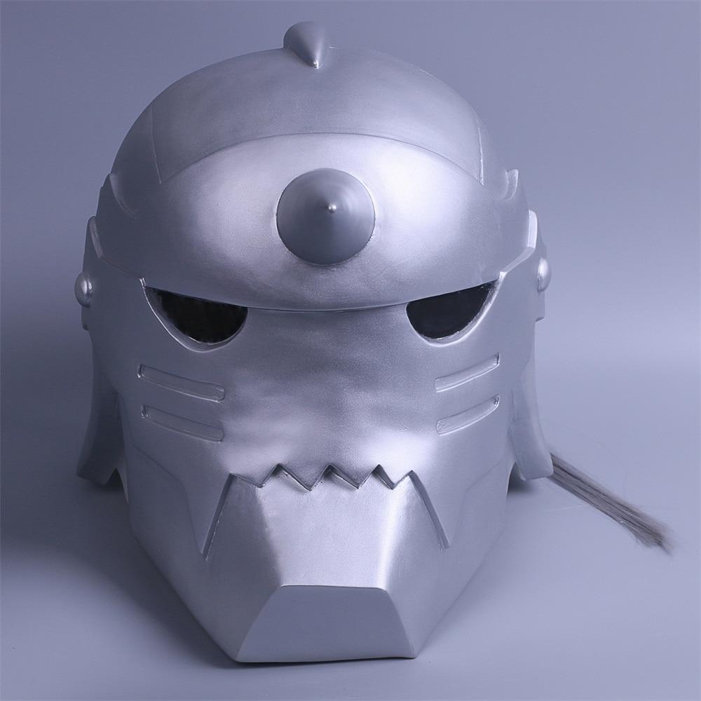 2017 Fullmetal Alchemist Mask Cosplay Alphonse Elric Helmet Halloween Mask PVC (7)