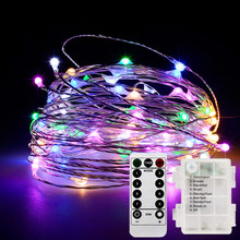 LED string light battery powered 8 function remote control 5m 50LED /10m 100LED outdoor interior Christmas lights