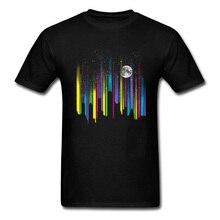 Night Sky T Shirts Wholesale Men T-shirt High Street Tshirt 2018 Summer Hip Hop Clothing Striped Tops Cotton Tees Christmas Gift