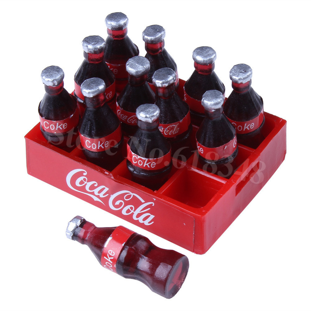 1:10 RC Crawler Accessories Mini Coke Bottle & Tray Model Simulation Decorations For Axial SCX10 TAMIYA CC01 RC4WD D90 Climbing