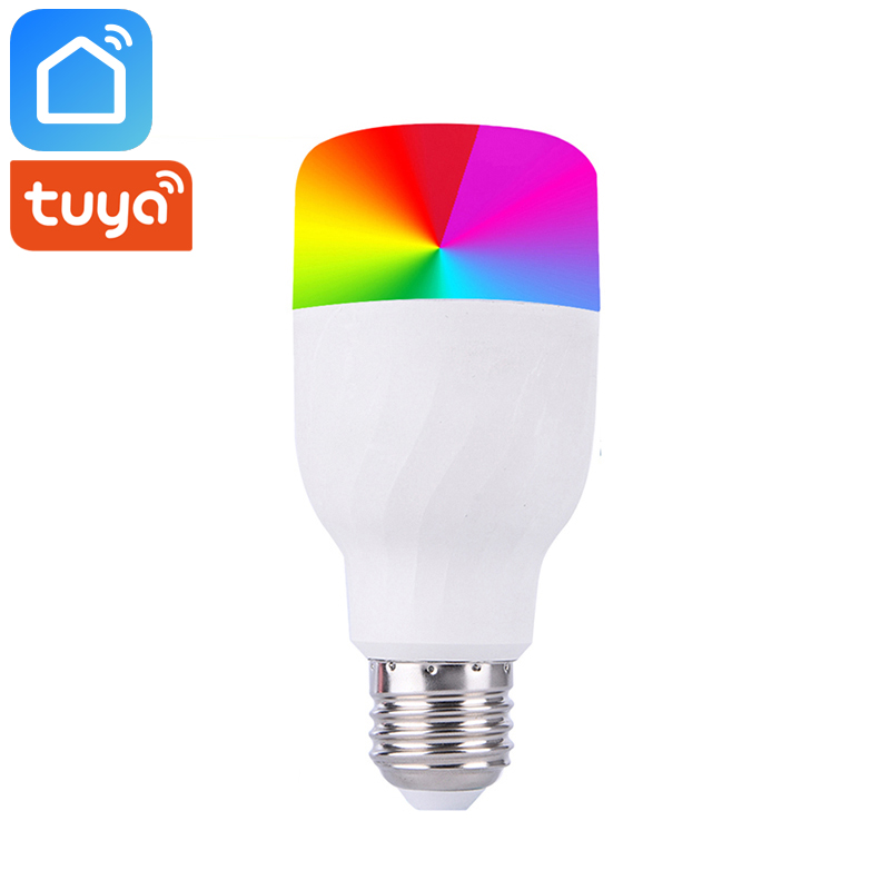 Tuya Vida Inteligente Wi-fi Inteligente Lâmpada E27 7W RGB + W Dimmer Conduziu a Lâmpada Funciona Com Alexa Google home Mini IFTTT Smart Home Automation