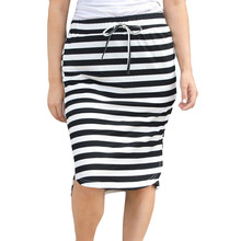 4c3ce7a518c32c feitong Style Cotton Stripe Hight Waist Mini Skirt Casual For Women Ladies  Girls 25