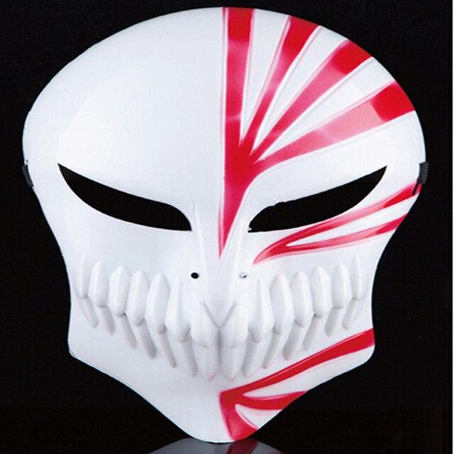 30pcs/lot Free Shipping Cosplay Costumes Masqurade Props Japanese Anime Kurosaki Ichigo Red and Black PVC Bleach Mask