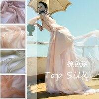 Nude Color Silk Crepon Full Color 100 Color Ultra Elegant Silk Fabric Cloth