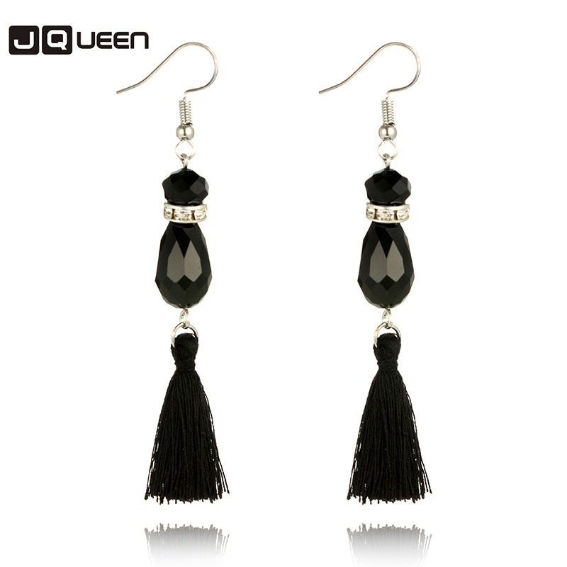 2017 Hot sale Long Drop Tassel Earrings Bohemia Crystal Tassel Dangle Earrings Women Trendy Jewelery