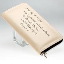 Harry Potter Letter Zip Around Wallet PU Fashion Women Wallets