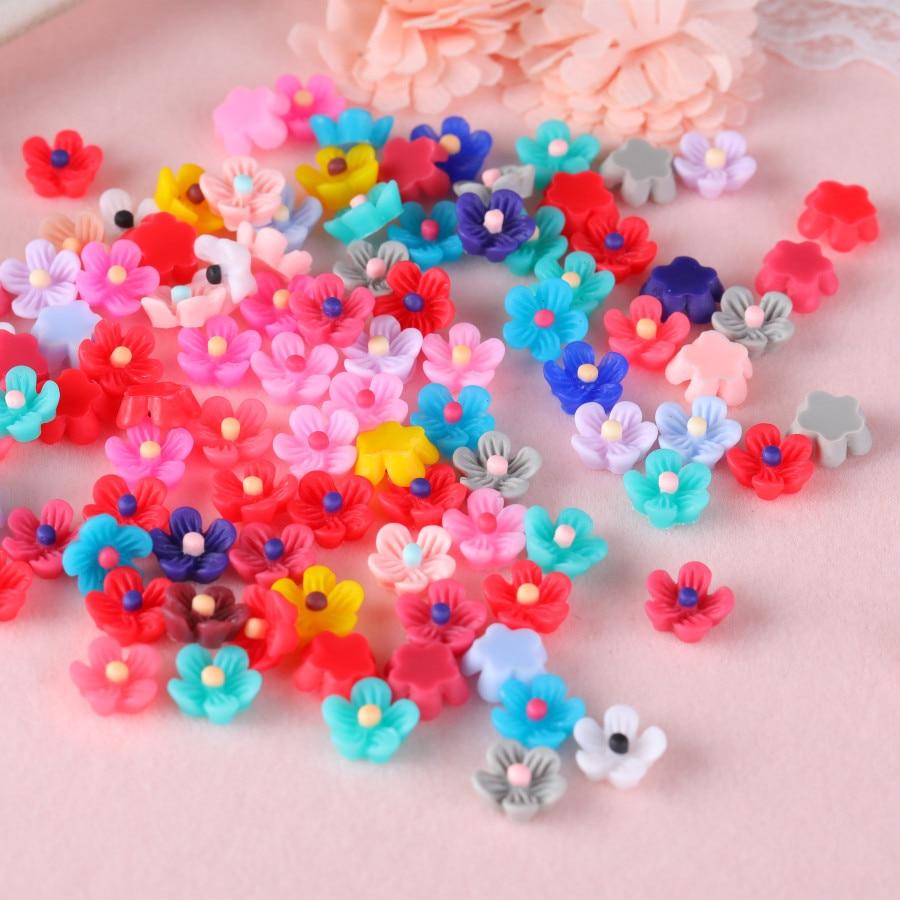 600pcs Rainbow Mix 4*6mm oval pearl  Flatback beads child scrapbook wedding DIY