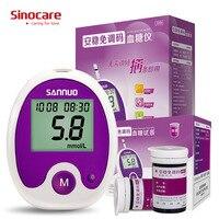 Güzellik ve Sağlık'ten Kan Şekeri'de Sinocare Anwen kodlama doğru kan şekeri ölçücü Test şeritleri ile şişelenmiş ve Lancets kan şekeri testleri diyabet için