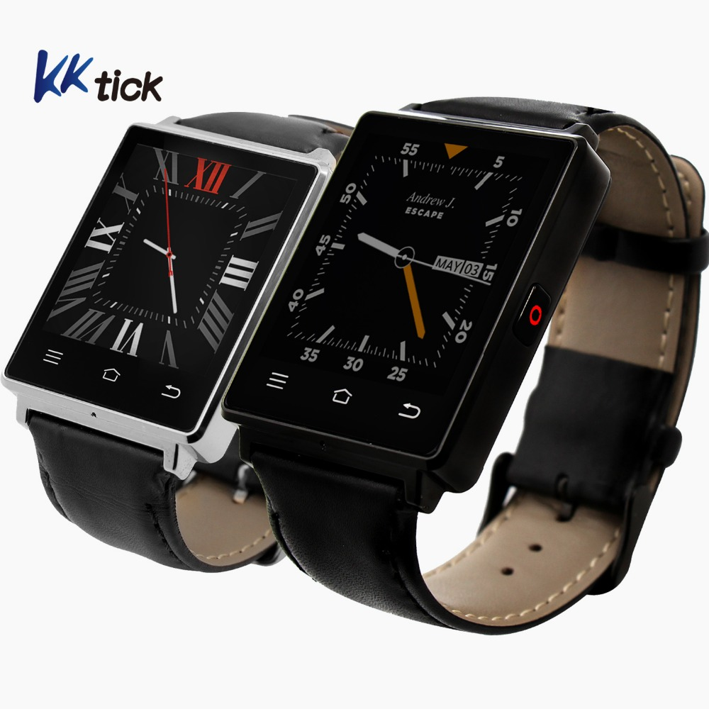 KKTICK D6 Smartwatch 1.63 Inch Android 5.1 MT6580 GPS WiFi Bluetooth 4.0  Quad-Core 1G 8G Heart Rate Monitor for Android and IOS