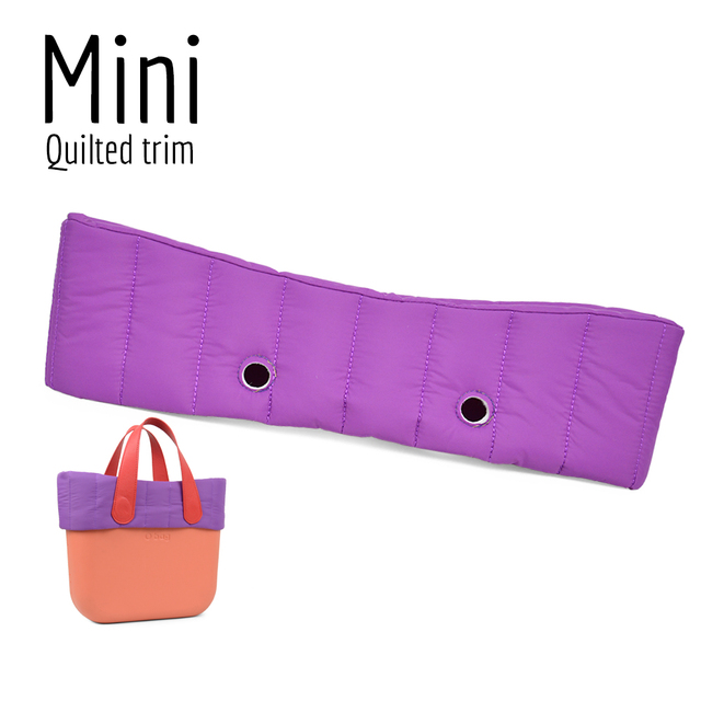 New Mini Obag quilted trim Decoration  for Obag Mini Bag body O bag Accessory 5 colours