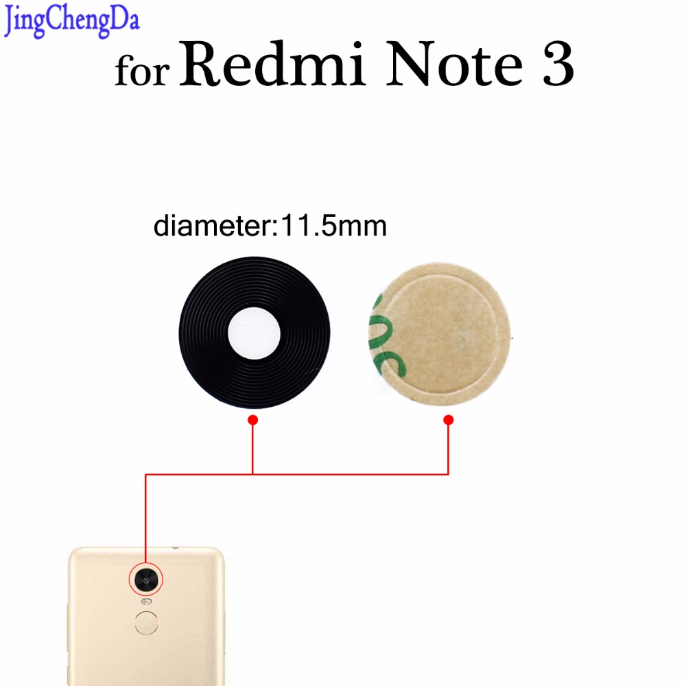 Jing Cheng Da for redmi Rear Back Camera Glass Lens Cover Replacement Parts with Adhesive Sticker For Xiaomi for Redmi Note 3