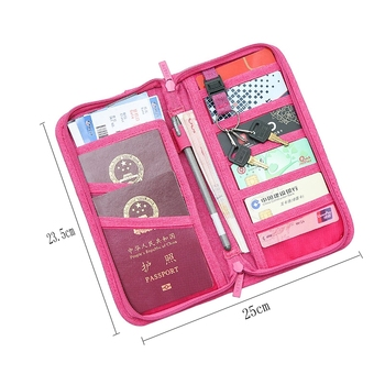 Passport Holder Travel Passport Wallets Multi-purpose Credit Card Ticket Travel Zipper Pouch 1