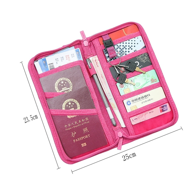 Passport Holder Travel Passport Wallets Multi-purpose Credit Card Ticket Travel Zipper Pouch 1