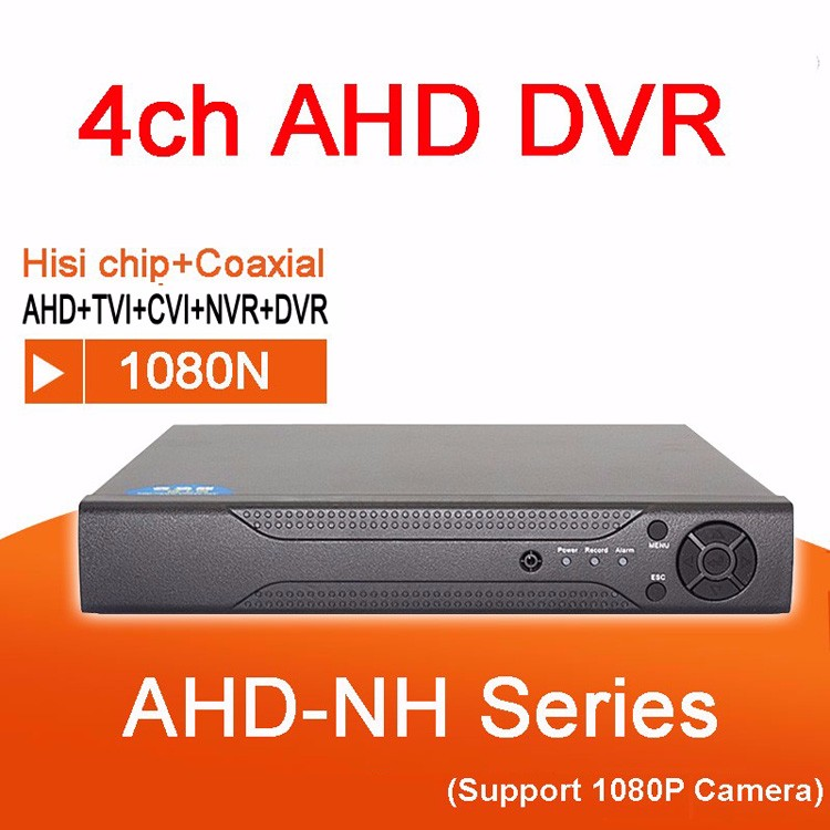 Hisiclion Chip Metal Case IR Remote Control 4 channels Hybrid 5 in 1 TVi CVI NVR AHD DVR picture 01