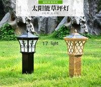 LED Güneş Enerjisi güç ışığı açık su geçirmez hukuk lamba bahçe/park siyah/bakır rengi