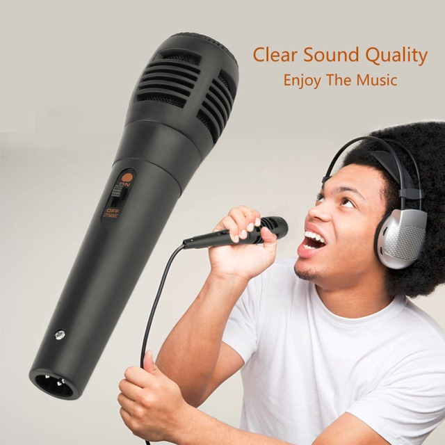 Universal Black Wired Uni-directional Handheld Dynamic Microphone Voice Recording Noise Isolation Microphone