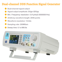 Digital Signal Generator Dual Channel DDS Function Generator Arbitrary Waveform Pulse Frequency Meter 1Hz 100MHz 200MSa