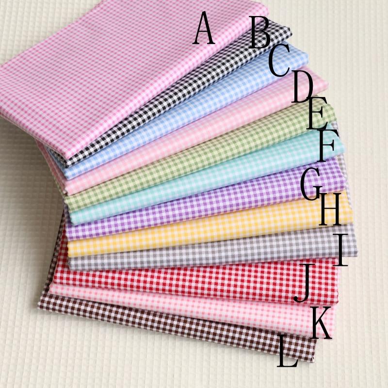 Деликатная клетчатая ткань из 100% хлопка 0,3 см, стеганая ткань, одежда, домашний текстиль, постельные принадлежности, швейная кукла, ткань, сд...