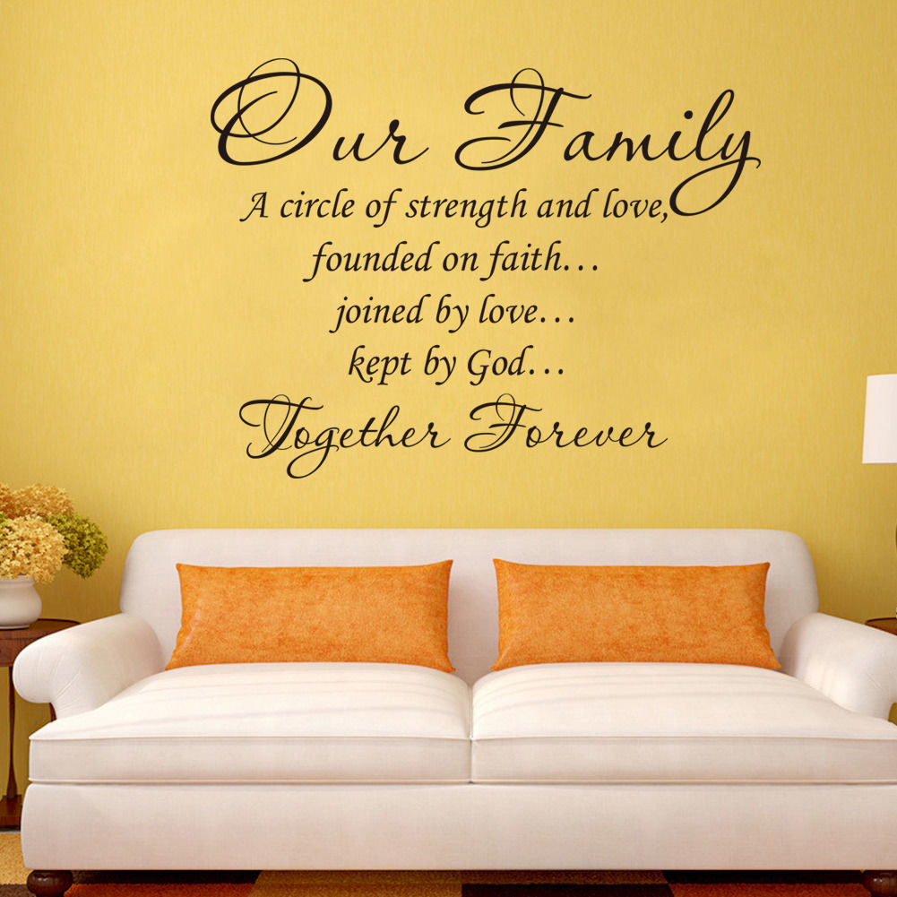 Our Family Together Forever Vinyl lettering Wall art Words Quotes ...
