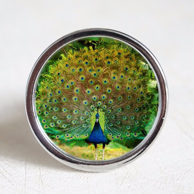 cabinet knobs silver. Peacock Knobs / Dresser Crystal Kitchen Cabinet Furniture Handle Pull Bling Hardware Silver