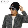 Kakaforsa Men Winter Acrylic Skullies Beanies Casual Warm Thickened Knitted Hats for Women Bonnet Fashion Solid Cap Free Size