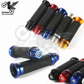 free shipping blue Rubber aluminum motorcycle Grips Scooter Hand Grips suit for 7/8'' 22mm moto handle bar 9 colors optional