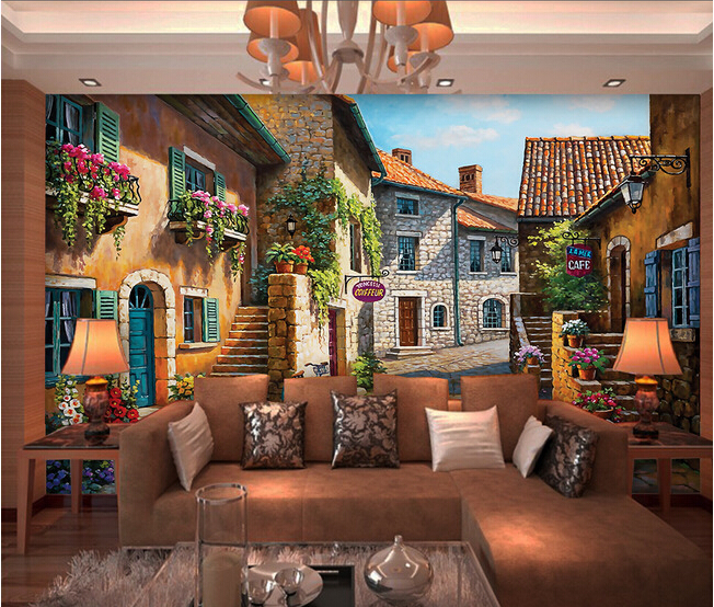 The custom 3D murals, 3D European town landscape oil painting papel de parede,living room sofa TV wall bedroom wall paper asus zenpad 3s 10 z500m tablet pc